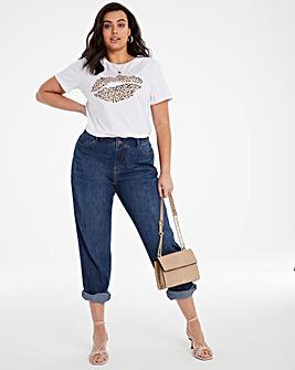 Vintage Blue Non Stretch Slouch Boyfriend Jeans