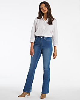 Kim Blue High Waist Super Soft Bootcut Jeans
