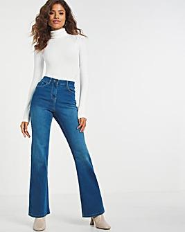 Kim Blue High Waist Super Stretch Bootcut Jeans