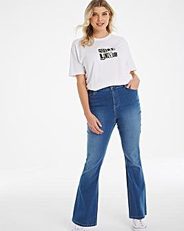 Kim Blue High Waist Super Soft Bootcut Jeans