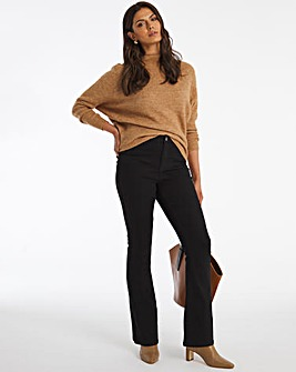 Black Kim High Waist Super Soft Bootcut Jeans
