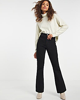 Kim Black High Waist Super Stretch Bootcut Jeans