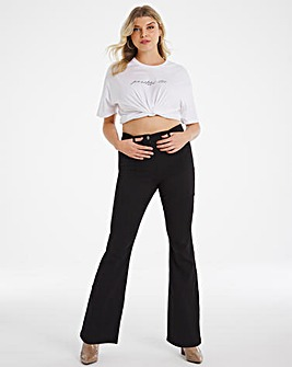 Kim Black High Waist Super Soft Bootcut Jeans