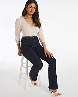 Kim Dark Indigo High Waist Super Soft Bootcut Jeans