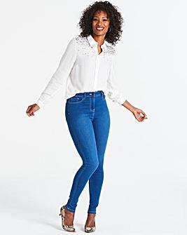 Lucy Blue High Waist Super Stretch Skinny Jeans