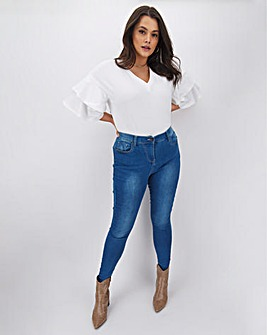 Lucy High Waisted Super Soft Skinny Jeans Long Length