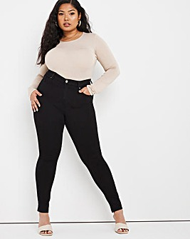 Lucy Black High Waist Super Stretch Skinny Jeans