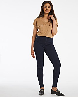 Lucy Dark Indigo High Waist Super Soft Skinny Jeans