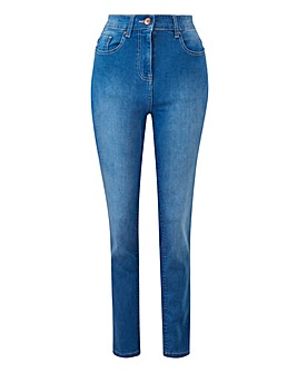 Blue Lexi High Waist Super Soft Slim Leg Jeans