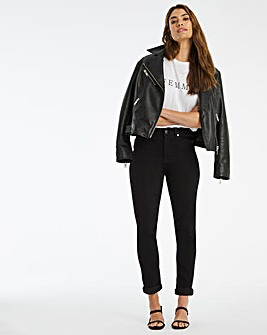 Black Lexi High Waist Super Soft Slim Leg Jeans