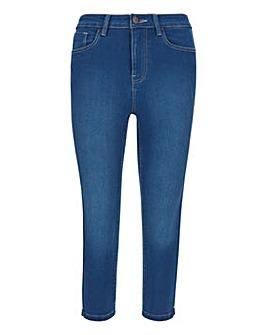 Lucy Blue High Waist Super Soft Stretch Crop Jeans