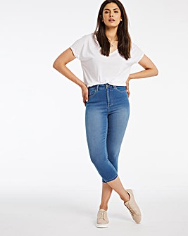 Blue Lucy High Waist Super Soft Crop Jeans