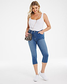 Lucy Blue High Waist Super Soft Crop Jeans