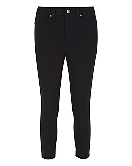 Lucy Black High Waist Super Soft Crop Jeans