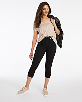 Black Lucy High Waist Super Soft Crop Jeans