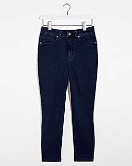Lucy Dark Indigo High Waist Super Soft Crop Jeans