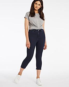 Lucy Dark Indigo High Waist Super Soft Crop Jeans