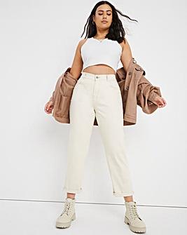 24/7 Ecru Boyfriend Jeans made with Organic Cotton