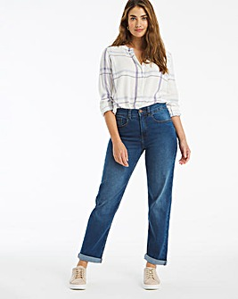 24/7 Blue Boyfriend Jeans made with Organic Cotton