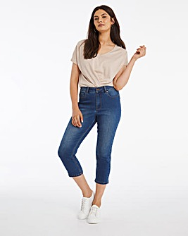 24/7 Blue Crop Jeans made with Organic Cotton