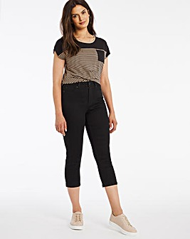 24/7 Black Crop Jeans made with Organic Cotton