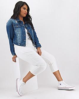 24/7 White Crop Jeans