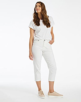 24/7 White Crop Jeans made with Organic Cotton