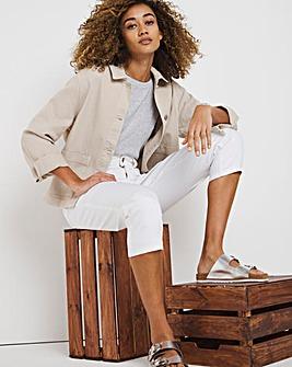 24/7 Organic White Crop Jeans