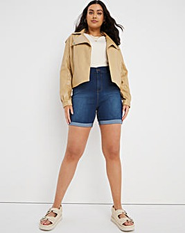24/7 Blue Denim Shorts made with Organic Cotton