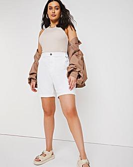 24/7 White Denim Shorts made with Organic Cotton