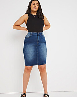 24/7 Blue Denim Skirt made with Organic Cotton