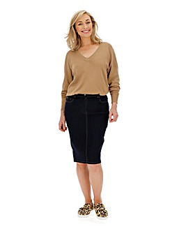 24/7 Organic Indigo Denim Skirt