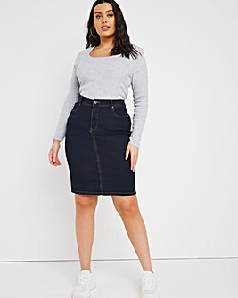 24/7 Indigo Denim Skirt made with Organic Cotton