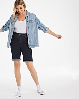 24/7 Indigo Knee Length Denim Shorts made with Organic Cotton