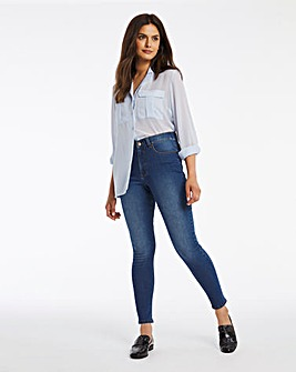 24/7 Blue Skinny Jeans made with Organic Cotton