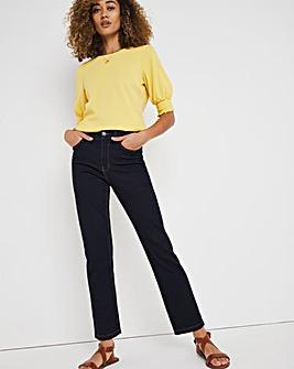 24/7 Organic Indigo Straight Leg Jeans
