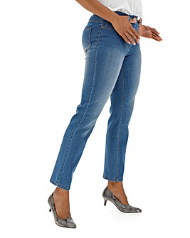 24/7 Blue Straight Leg Jeans made with Organic Cotton