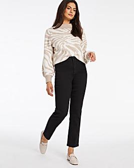 24/7 Organic Black Straight Leg Jeans