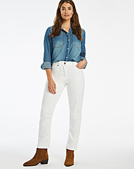 24/7 White Straight Leg Jeans made with Organic Cotton