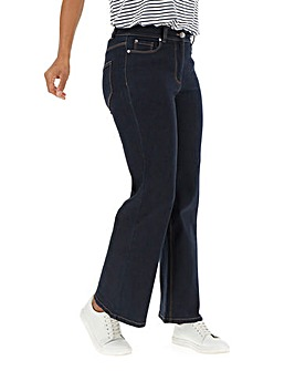 24/7 Indigo Wide Leg Jeans Short Length