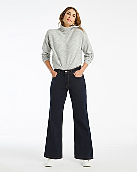 24/7 Indigo Wide Leg Jeans made with Organic Cotton