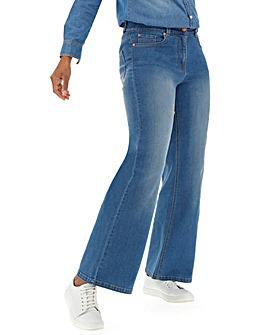 24/7 Blue Wide Leg Jeans Regular Length