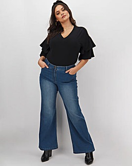 24/7 Blue Wide Leg Jeans Regular Length