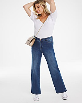 24/7 Blue Wide Leg Jeans made with Organic Cotton