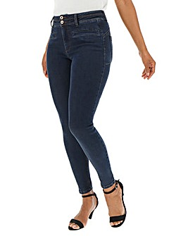Indigo Shape & Sculpt Apple Fit Skinny Jeans