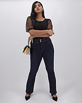 Premium Shape & Sculpt Indigo Bootcut Jeans Long Length