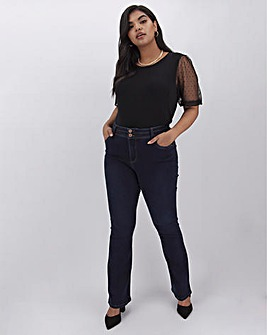 Indigo Premium Shape & Sculpt Bootcut Jeans Regular Length