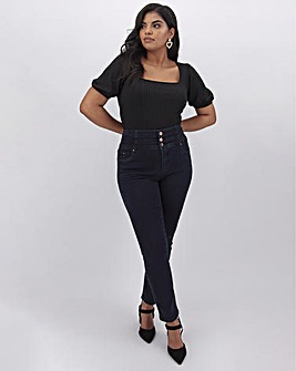 Shape & Sculpt Dark Indigo Extra High Waist Straight Leg Jeans