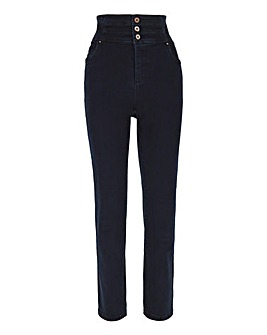 Dark Indigo Shape & Sculpt Extra High Waist Straight Leg Jeans
