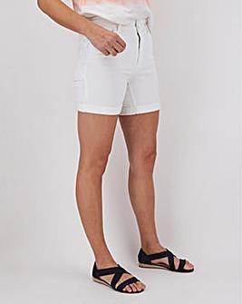 Premium White Shape & Sculpt Denim Shorts